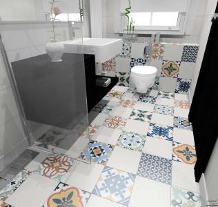 Amenajare baie cu gresie stil marocan