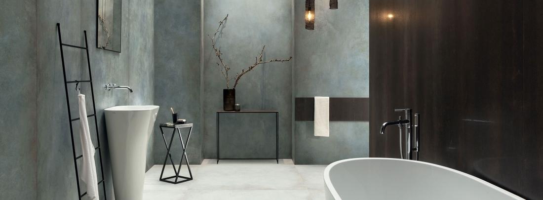 Gresie tip stucco Patina Plate Blue Mat