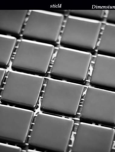 mozaic din sticla negru lucios dimensiune placa 31,5 x 31,5 cm 1