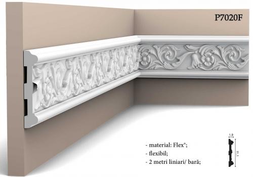 Bagheta decorativa perete model cu flori Orac Decor P7020F.