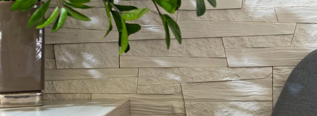 Placi decorative albe tip piatra Mizar Bianco