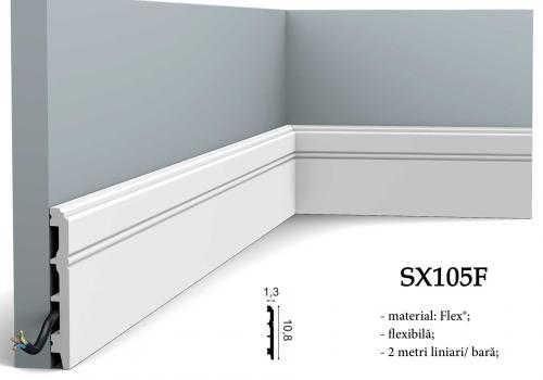 Plinta clasica pentru parchet, gresie sau mocheta Orac Decor SX105F