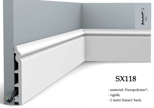 Plinta alba decorativa Orac Decor SX118