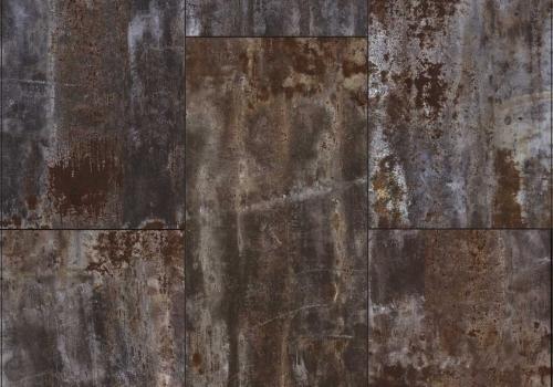 Tapet stil industrial cu aspect de metal oxidat