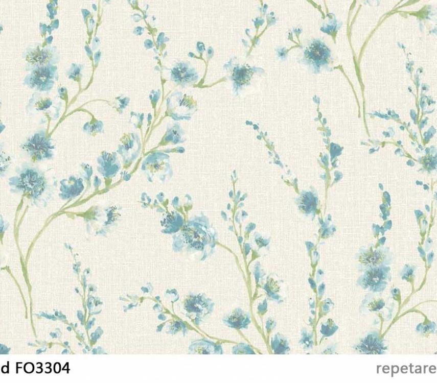 tapet-cu-flori-turcoaz-fiore