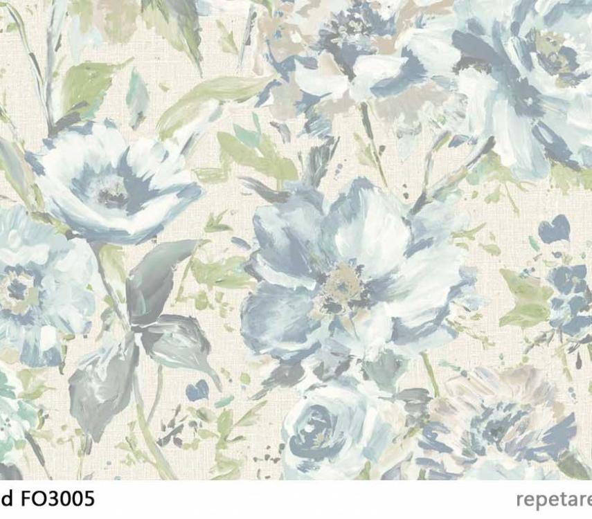 tapet-cu-flori-turcoaz-fo3005