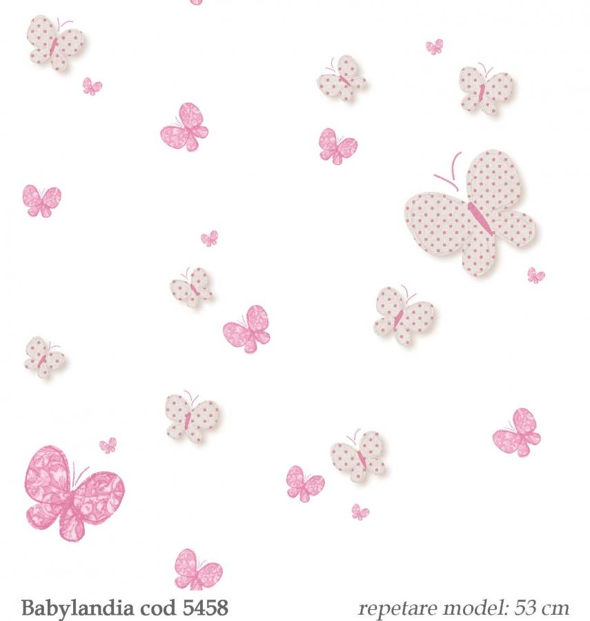 tapet-cu-fluturi-roz-pentru-fetite-gama-Babylandia-parato-cristiana-masi-cod--5458