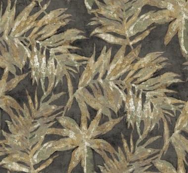 Tapet negru cu frunze Cristiana Masi gama Via Margutta.