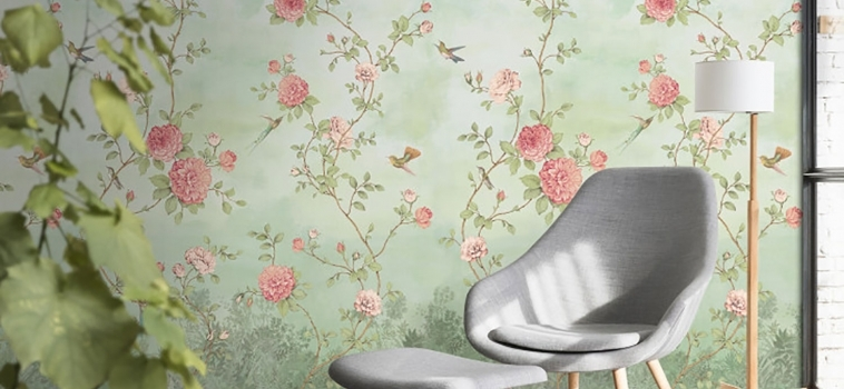 Tapet floral de lux Rose Garden