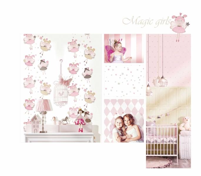 Tapet lavabil pentru fetite Babylandia