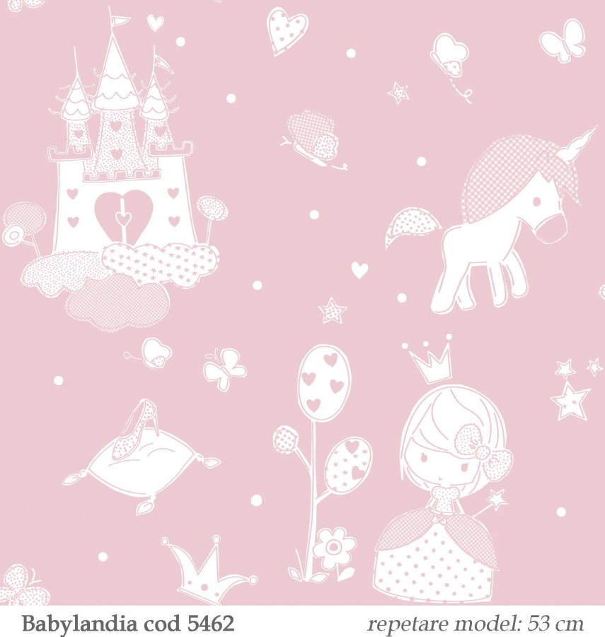 tapet-roz-cu-unicorni