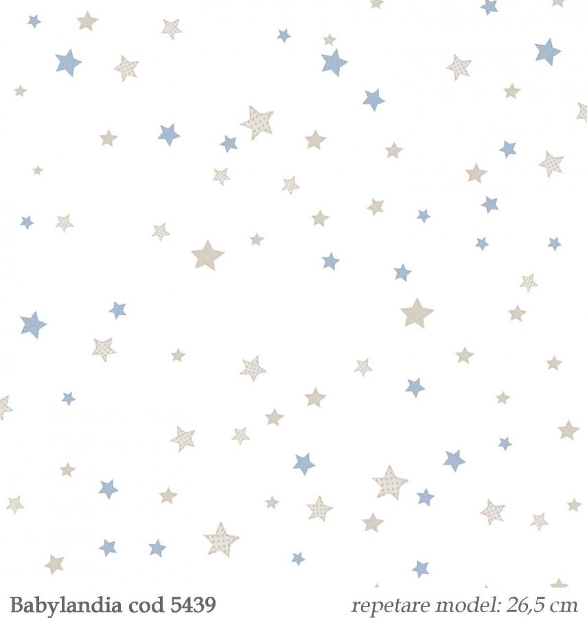 tapet-stelute-albastre-copii--gama-Babylandia-cristiana-masi-cod-5439
