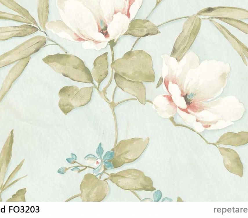 tapet-turcoaz-cu-magnolii-fo3203