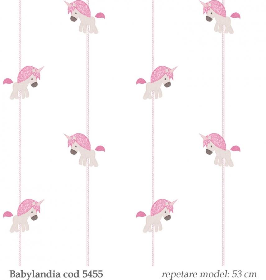tapet-unicorni-roz-gama-Babylandia